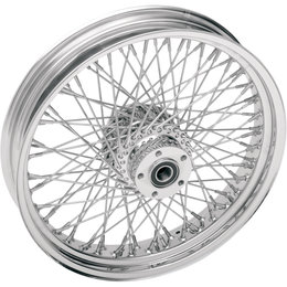 Drag Specialties 21x2.15 80-Spoke Laced Front Wheel For Harley Chrome 0203-0040 Metallic
