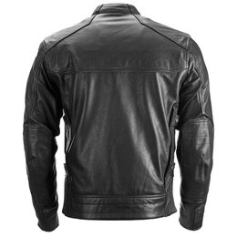 Highway 21 Mens Gunner Armored Leather Jacket Black