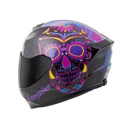 Scorpion Womens EXO-R420 EXOR 420 SugarSkull Full Face Helmet Black