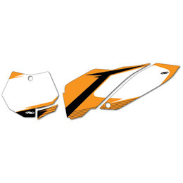 White Factory Effex Graphic #plate Background Ktm Exc