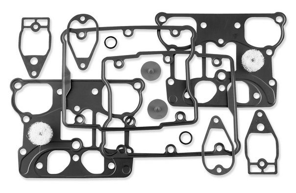 HardDrive Finned Headbolt Covers #43859-00 For Harley Twin Cam Black 19-001D2