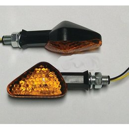 Black Bodies, Amber Lenses Dmp Led Marker Lights Offset Arrow Black Amber
