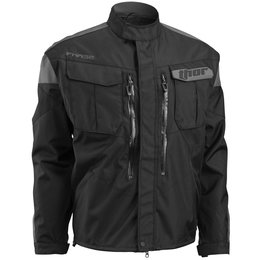 Thor Mens Phase Offroad Jacket With Zip Off Sleeves Black