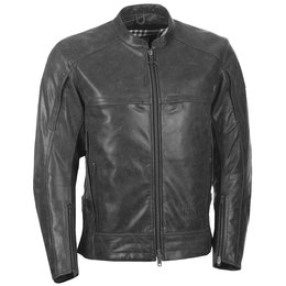 Highway 21 Mens Gunner Armored Leather Jacket Grey
