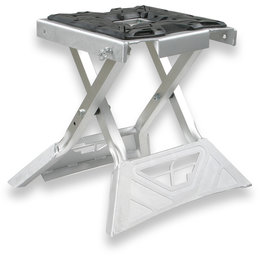 Fly Racing 6061 T-6 Aluminum Folding MX Stand Silver 61-0777 Silver