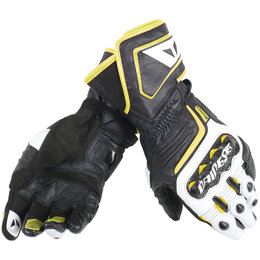 Dainese Mens Carbon D1 Long Leather Gloves Black