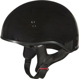 Gloss Black Gmax Gm45 Naked Half Helmet Black