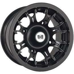 Douglas Wheel UTV Diablo 12X7 4+3 Offset 4/110 BP 14MM Bolt Hole Black 991-11B Black