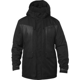 Fox Racing Mens Disrupt Hooded Water-Resistant DWR Coated Cold Weather Jacket Black