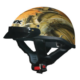 AFX FX-70 Wood Camo Beanie Half Helmet Multicolored