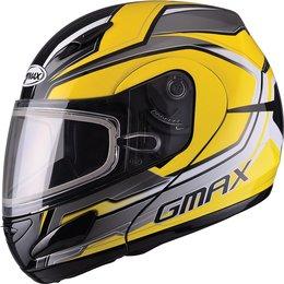GMax GM44S Glacier Modular Snow Helmet With Dual Pane Shield Yellow