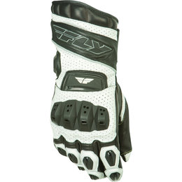 White, Black Fly Racing Mens Fl-2 Gauntlet Leather Gloves 2015 White Black