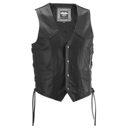 Highway 21 Mens Six Shooter Leather Vest