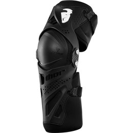 Thor Youth Boys Force XP MX Motocross Knee Guards Shin Protectors Pair Black