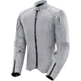 Joe Rocket Womens Heartbreaker 3.0 Armored Textile Jacket Grey