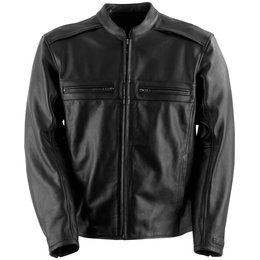 Black Brand Mens Fahrenheit KoolTek Armored Leather Jacket
