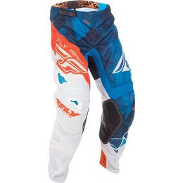 Fly Racing Youth Boys Kinetic Mesh Crux MX Pants Blue