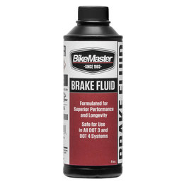Bikemaster Dot 4 Brake Fluid 8 Oz 531857 Unpainted