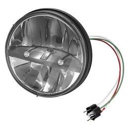 Chrome Kuryakyn Phase 7 Led Headlamp 7 Inch For Harley Flh Flt Yamaha Road V-star