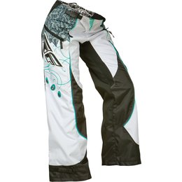 Teal, White Fly Racing Girls Kinetic Over-the-boot Pants 2015 Us 24 Teal White