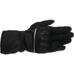 Alpienstars Mens SP-Z Drystar Lined Long Cuff Leather Sportbike Riding Gloves Black