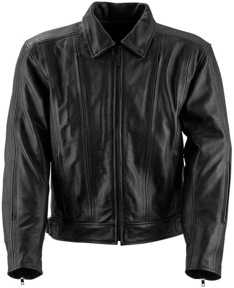 Black leather jacket for men cheap