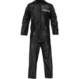 Thor Mens 2 Piece Waterproof Jacket/Pants Motorsports Rain Suit Black