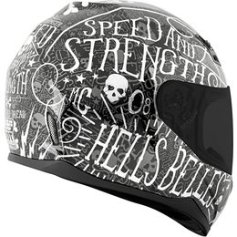 Speed & Strength Womens SS700 Hell's Belles Full Face Helmet Black