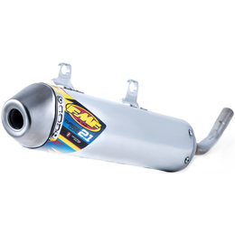 FMF Racing Turbinecore 2.1 S/A Silencer Gas Gas Stainless Aluminum 025220 Unpainted