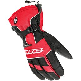 HJC Mens Storm Waterproof Snowmobile Gloves Red