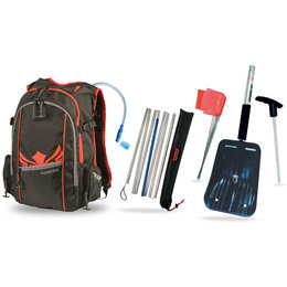 Fly Racing Snow Back Country Backpack With Hydration Kit Black Red Black