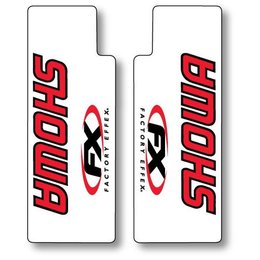 Red Factory Effex Upper Fork Shield Graphics Showa