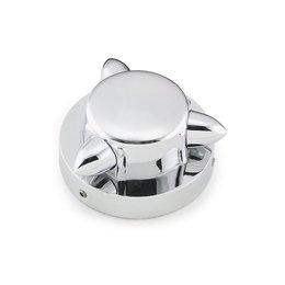 Chrome Bikers Choice Krommet Gas Cap Cover For Harley Big Twin