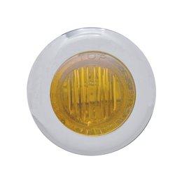 Pro-One Performance Mini Marker Dual Fnct LED Light W/ Amb Lens 1-1/8 In SS Univ