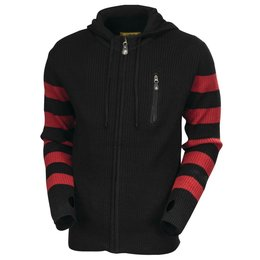 RSD Mens Folsom Wool Blend Sweater With Thumbholes Charcoal Red Black