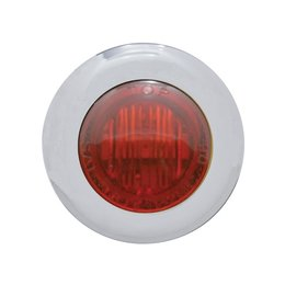 Pro-One Performance Mini Marker Dual Fnct LED Light W/ Red Lens 1-1/8 In SS Univ