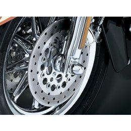 Chrome Kuryakyn Peaked Axle Caps For Harley Flh Flt Flst Fxst Fxd Vrsc