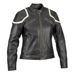 River Road Womens Babe Vintage Leather Jacket Black