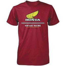 Red Honda Mens Vintage Racing T-shirt 2013