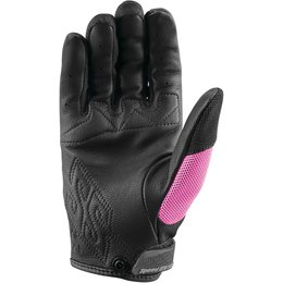 Speed & Strength Womens Backlash Leather Riding Gloves Pink