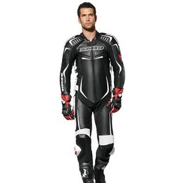 Black, White Spidi Sport Track Wind Pro One Piece Leather Suit Black White Us 44 Eu 54