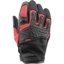 Speed & Strength Womens Backlash Leather Riding Gloves Red