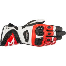Alpinestars Mens Supertech Leather Riding Gloves Red