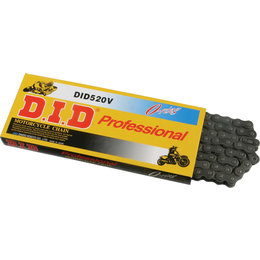 DID Chain Professional 420V O-Ring Chain 100 Links Natural 420V-100L Black
