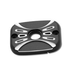 Black Arlen Ness Brake Master Cylinder Cover Deep Cut For Harley Flt Flst Fxst