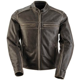 Black Brand Womens Vintage Rebel Leather Jacket