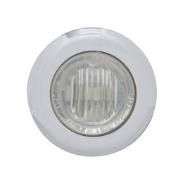 Pro-One Performance Mini Marker LED Light With Clear Lens 1-1/8 In Each White SS