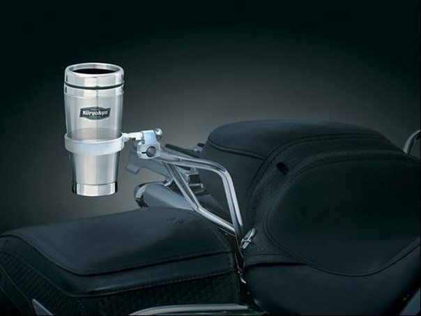 80 99 Kuryakyn Passenger Drink Holder With Mug Chrome 166165