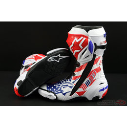 Alpinestars Mens Supertech R Marquez Replica Boots Multicolored