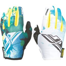 Fly Racing Youth Girls MX Offroad Kinetic Gloves Blue